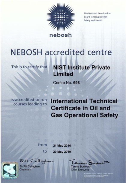 NEBOSH Credentials Attestation Of Qualification Accredited Centre Course Provider Training Accreditation