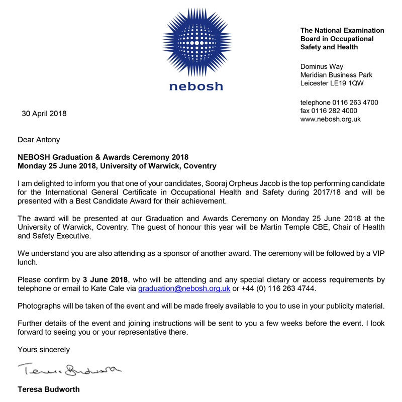 Nebosh Hse Certificate In Process Safety Management Nist