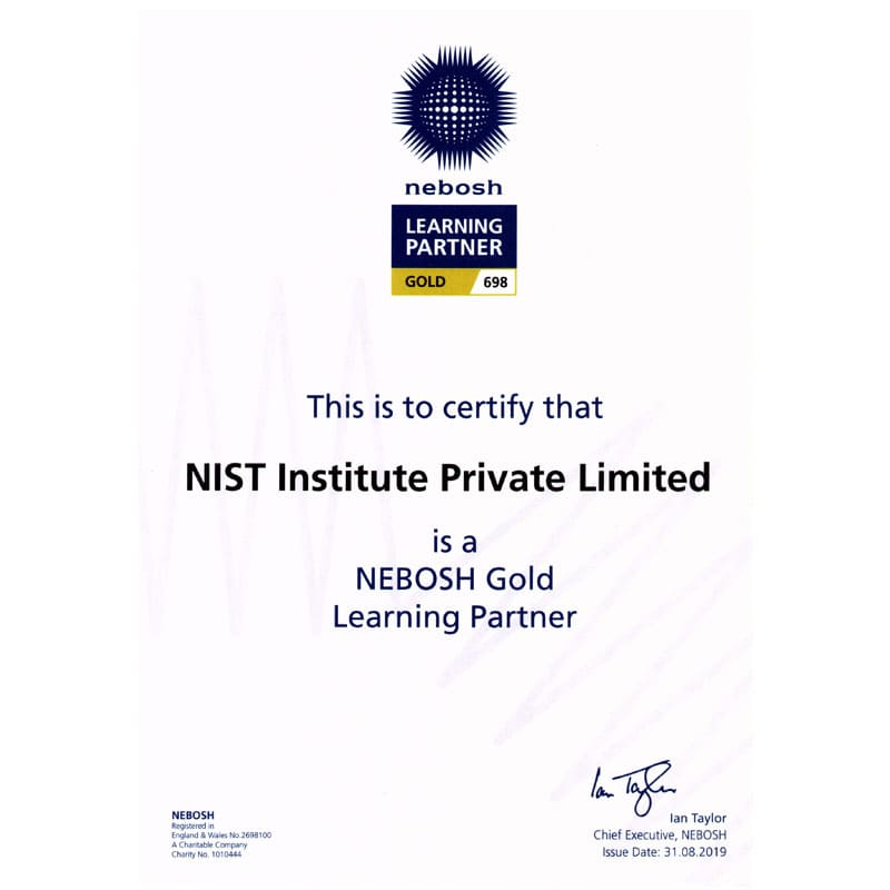 NEBOSH Gold Learning Partner in India